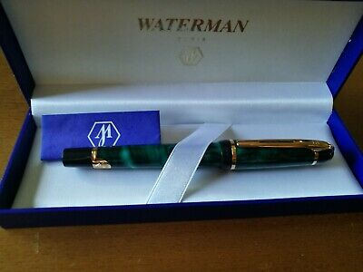 WATERMAN PHILEAS FOUNTAIN PEN. GREEN MARBLE effect .NEW boxed.