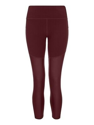 Sweaty Betty Power 7/8 Mesh Oxblood Leggings Size S EB1711-B4A