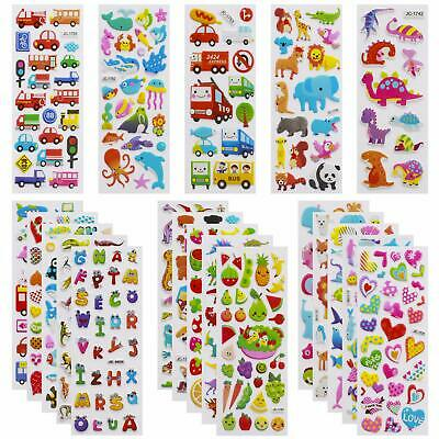 3D Stickers for Kids Toddlers Vivid Puffy Kids Stickers 24 Different Sheets