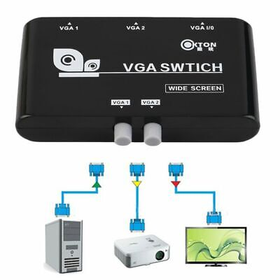 VGA/SVGA 2 In 1 Out Switcher Box Sharing Selector Manual Sharing for LCD PC US