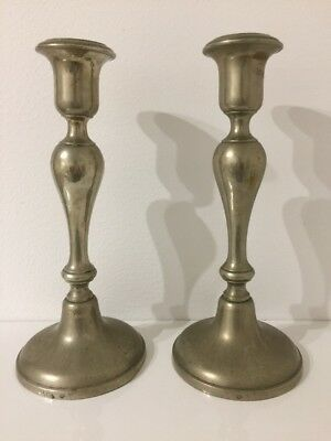 Vintage Alpacca German Silver Candelabrums Candlesticks with a seal