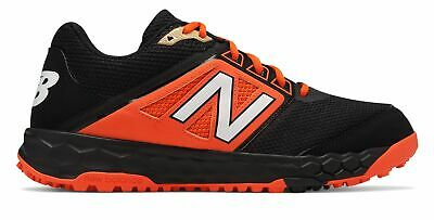 New Balance Low-Cut 3000V4 Turf Baseball Mens Shoes Black With Orange