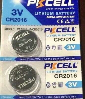 CR2016 PKCELL 2016 LITHIUM BATTERIES (2 piece) 3V watch New Authorize USA Seller