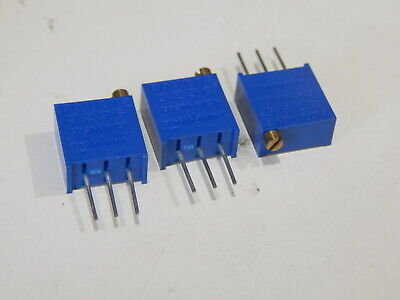 BOURNS 3296W-1-103 Res Cermet Trimmer 10K Ohm 10% 1/2W 25 Turn - LOT OF 3