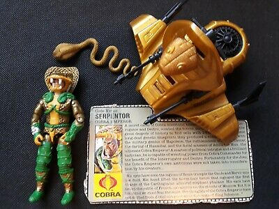 GI Joe Vehicle Cobra Serpentor Air Chariot Gun w Tabs 1986 Original Part