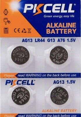 LR44 PKCELL AG13 (4 piece) LR44 PKCELL A76 L1154 AG13 357 New Alkaline Battery
