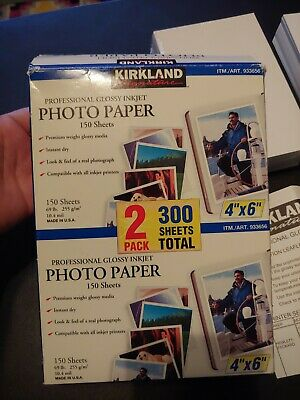 Kirkland Signature Photo Paper Two Pack 4 X 6 Glossy Inkjet 300 Sheets Total