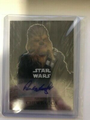 Peter Mayhew Chewbacca Auto Signed Topps Chrome Card Star Wars Autograph