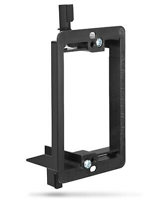 TNT Single 1-Gang Low Voltage Wall Plate Mounting Bracket - Black