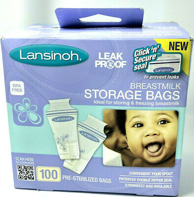 Lansinoh Breastmilk Breast Pump Storage Bags 100 Count