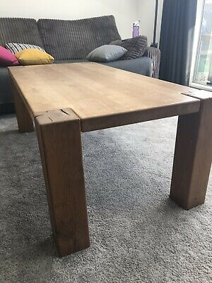 Large Oak Coffee Table With 2 Draws Originally From Marks