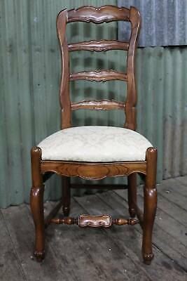 A New French Oak Ladder Back Chair with Upholstered Seat