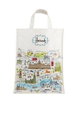 Harrods Medium London Map Shopper Bag