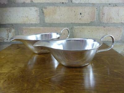 a nice pair of vintage GAB Ltd EPNS silver plated Sauce boat jugs