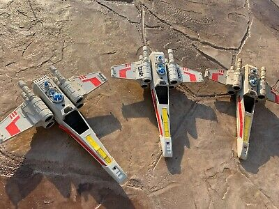 Vintage Star Wars X-wing Fighters 14-inches long Lot of 3 Beaters Not Complete