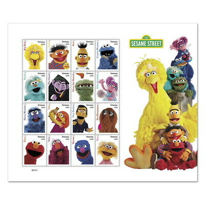 USPS Forever Postage Stamps 'Sesame Street' full sheet of of 16