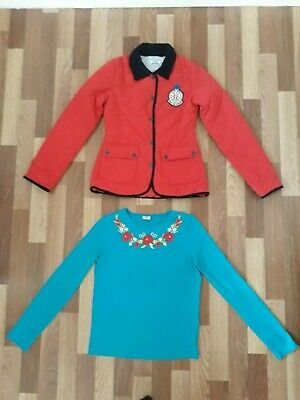 Girls jacket and top, size 12-13y, VGC