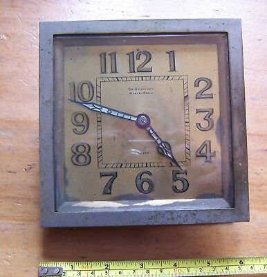 Vintage Art Deco Ch Bronfort Monte Carlo Just clock restoration spares