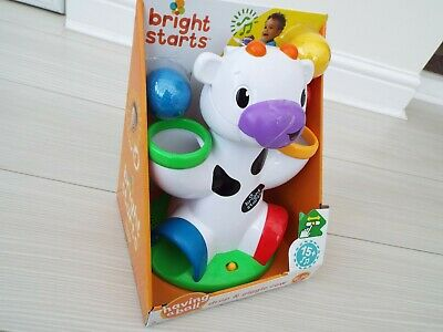 Bright Starts Learning Toy Drop and Giggle Cow