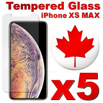 Premium Tempered Glass Screen Protector For iPhone XS Max / XS / X (5 PACK)