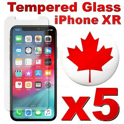 Premium Tempered Glass Screen Protector For iPhone XR (5 PACK)