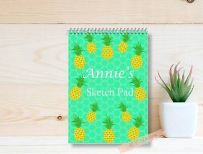 PINEAPPLES Personalised A4 Sketch pad/ Art book/ Drawing Book