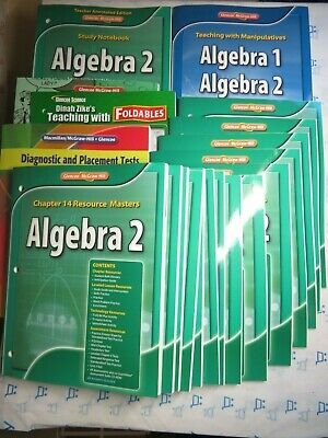 HOLT CALIFORNIA ALGEBRA 1 COMPLETE Chapter Resource Books 1