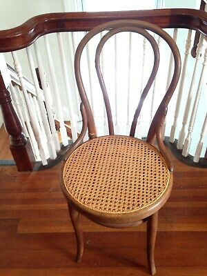 Old Thonet Bentwood Chair Signed Antique Early 20th Cent Late 19th Cent