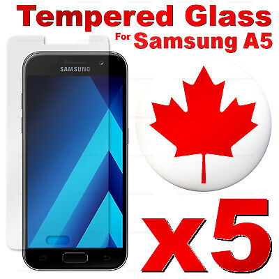 Premium Tempered Glass Screen Protector For Samsung Galaxy A5 2017 (5 PACK)