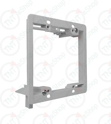 TNT Single 2-Gang Low Voltage Wall Plate Mounting Bracket - White