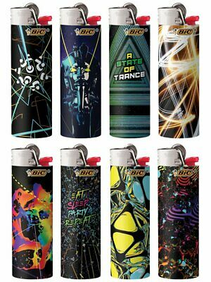 BIC Special Edition Lighters EDM Series Set of 8 Lighters Electric Dance Moves