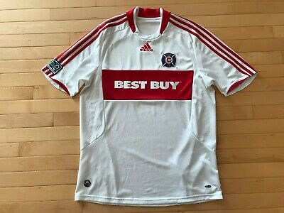 release date 60bc4 373d0 ADIDAS CHICAGO FIRE Jersey Sz L Mens Best Buy Blanco Era MLS White Vintage  Rare