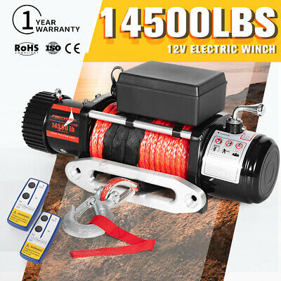 4WD ELECTRIC ROPE Winch Wireless Wired Remote Kings 12000lb