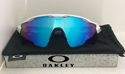 aa6c4accd245 New Oakley Radar EV Sunglasses Polished White w/ Sapphire Iridium Lens  OO9208-17