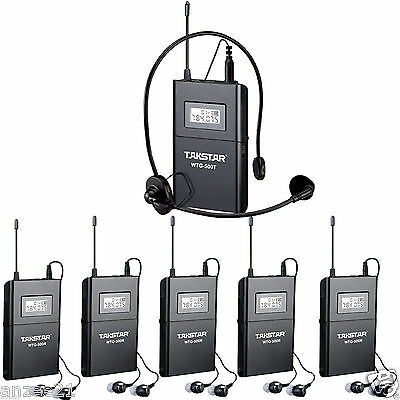 Pro Wireless Tour Guide Teach Visit Tourism audio-visual System 1 to 5 Receiver