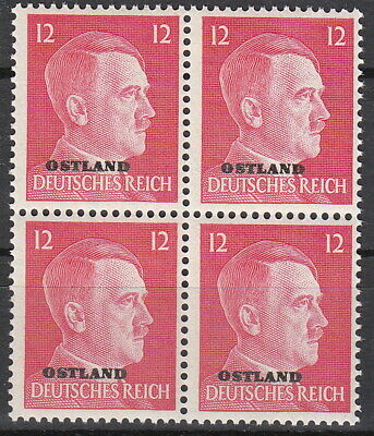 Stamp Germany Ostland Mi 20 Block 1943 WW2 War Reich Hitler Estonia MNH