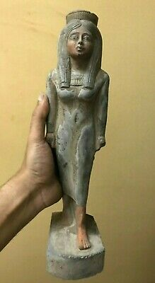 LARGE EGYPTIAN ANTIQUES Queen Nakhtmin EGYPT STATUE GODDESS Carved Stone BC