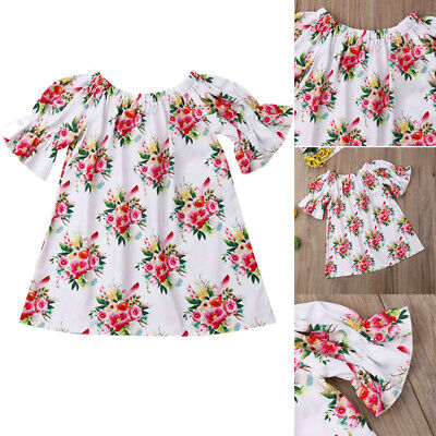 UK Seller Toddler Baby Girl Kid Summer Short Dress Sundress Party Outfit Clothes