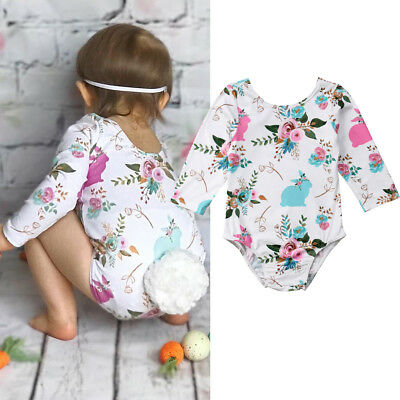UK Seller Infant Baby Girls Bubble Tail Romper Outfit Playsuit Jumpsuit Clothes