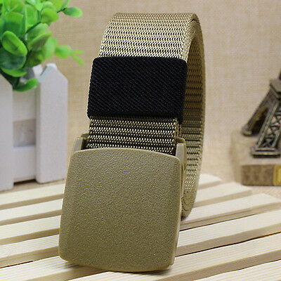 ALS_ Men's Fashion Outdoor Sports Military Tactical Nylon Waistband Canvas Belt
