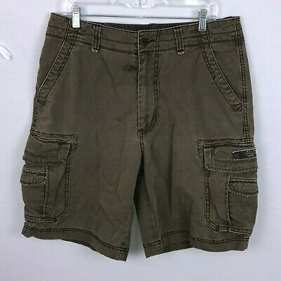 Union Bay Mens 34 Brown Casual Cargo Shorts