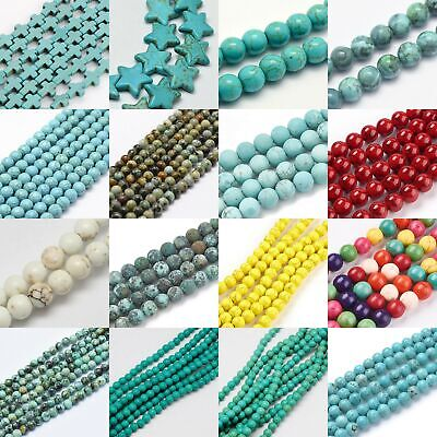 Turquoise Bead Round Gemstone Heishi Bead Spacer Loose Jewelry 4mm 6mm 8mm 10mm