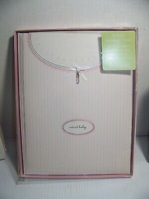 Baby Girl Memory Book Hardcover Record TO FIRST DAY OF SCHOOL 2005