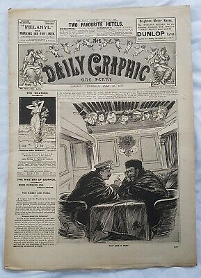 THE DAILY GRAPHIC NEWSPAPER  Thurs 27 July 1905 Full 16 page original paper VGC