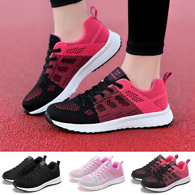 Women Mesh Breathable Trainers Tennis Sneakers Running Sports Gym Athletic Shoes