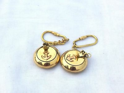 2 pcs Brass Pocket Portable Mini Nautical Key ring Cigarette Ashtray Keychain