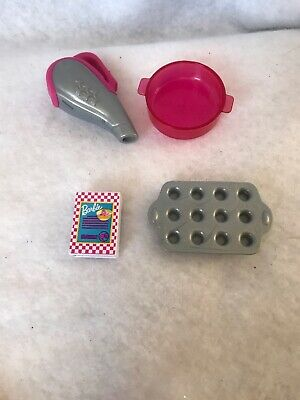 Barbie Doll Pink 3 Story Town House Vacuum Cleaner Cooke Sheet Cereal Box Lot