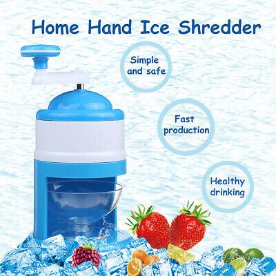Ice Shaver Hand Crank Manual Ice Crusher Shredding Maker Machine Tool for