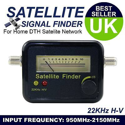 Digital Satellite Finder Signal Meter for Direct TV Sat Dish Sky Freesat Black