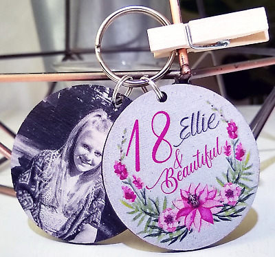 Personalised Beautiful Age Keyring 16th 18th 21st 30th Birthday Gift